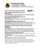Sail Buzzards Bay Curriculum and Price List